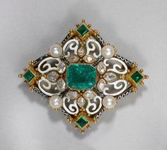 The Gryphon's Nest — Victorian Emerald Brooch by Giuliano