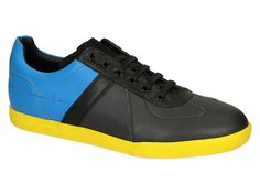 Dior men's sneakers shoes in blue/grey Calf leather - Italian Boutique €392
