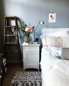 Home Office Blue Grey Farrow Ball 26 Ideas For 2019 Interior, Home, Home Accessories Uk, Bedroom Interior, Bedroom Images, Farrow Ball, Room Colors, Farrow And Ball Bedroom, Living Room Inspiration
