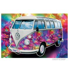 Psychedelic VW Bus Poster
