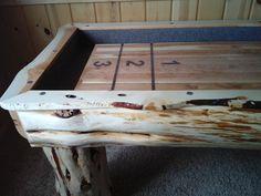 Custom Built Juniper Log Shuffleboard Table | eBay