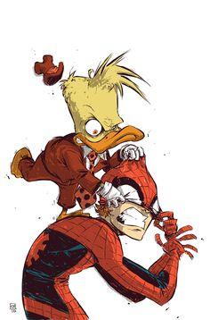 Spider-Man Vs. Howard The Duck via *skottieyoung on deviantART
