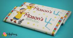 #Caillou Candy Bar Wrapper by Stylingthemoment on #Etsy, $8.00