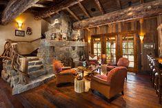 Foxtail Residence - rustic - Living Room - Denver - Teton Heritage Builders