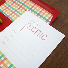 Free Printable Picnic Invitations