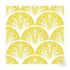 Art.fr - Reproduction d'art 'Art Deco Geometric Pattern in Bright Yellow' par tukkki