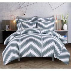 Dallas 3-Piece Bedding Duvet Cover Set, Gray