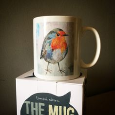 // NEW MUG COLLECTION SOON! // limited edition from the original artwork by ©philippe patricio // all rights reserved // Robin Bird, Torn Paper, Collage Artists, Shape And Form, Original Artwork, Art Pieces, Birds, Hand Painted, Mugs