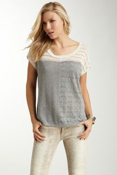 DKNY Jeans  Colorblock Stitched Pullover T-Shirt. Like the t shirt, not so much the pants.