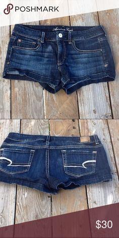 Like New Size 12 American Eagle short shorts EUC American Eagle Shorts American Eagle Outfitters Shorts Jean Shorts