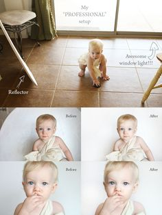 Use natural light and a reflector to get this amazing look. Easy tutorial by Jessica Drew.