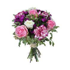 Bouquet de roses et oeillets