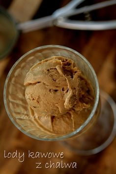 Ice coffee with halva Dessert Cups, Homemade Ice Cream, Healthy Sweets, Frozen Desserts, Peanut Butter, Cooking Recipes, Cooking Ideas, Sweet Treats, Food And Drink