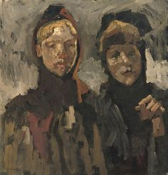 Breitner, George, (1857-1923), Two girls in the snow