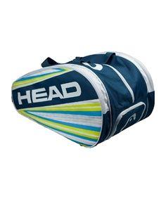 El Paletero HEAD TYPHOON PADEL BANG Posee un amplio espacio para ropa, calzado, etc... Además de dos bolsillos paleteros, uno a cada lado, uno de ellos con compartimentos para pequeños objetos. Incorpora bolsillo de red interior y un bolsillo aislado para calzado. http://www.streetpadel.es/head-typhoon-padel-bang-p-2546.html