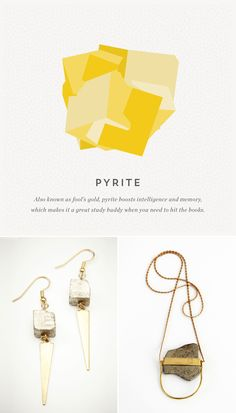 Be pretty in pyrite with these jewelry pieces.