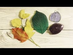 как сделать листья из фоамирана при помощи разных молдов