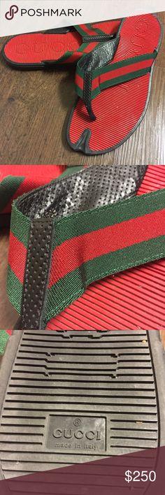 9e350d4dcb7 Gucci Men s Thong Sandals Gucci Men s Thong Sandals • Green Red Green  signature web
