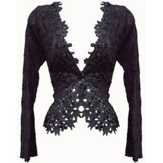 Black Fitted Lace Victorian Jacket