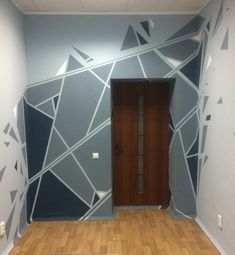 Kurzwald Studio office Our office in Minsk, Belarus Geometric Wall Paint, Geometric Decor, Home Interior Design, Interior Decorating, Decorating Ideas, Wall Paint Patterns, Wall Design, House Design, Wall Painting Decor