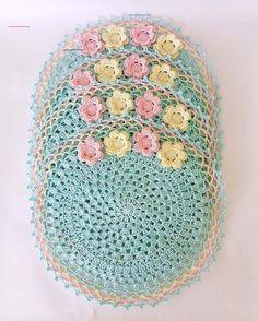 Crochet Mat, Crochet Carpet, Crochet Motifs, Granny Square Crochet Pattern, Crochet Stitches Patterns, Doily Patterns, Crochet Home, Crochet Designs, Crochet Doilies