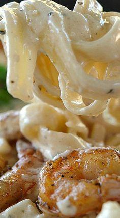 Cajun Shrimp Fettuccine Alfredo by melody Cajun Shrimp Recipes, Fish Recipes, Seafood Recipes, Cajun Shrimp Pasta, Shrimp Fettuccine Alfredo, Fettuccine Recipes, Shrimp Alfredo Recipe, Linguine, Cajun Cooking