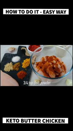 SUPER easy low carb butter chicken recipe that you can quickly make on the stovetop or in a slow cooker! How to do Keto Butter Chicken Easy Chicken Thigh Recipes, Asian Chicken Recipes, Leftover Chicken Recipes, Chicken Recipes Video, Low Calorie Paleo, Low Carb, Butter Chicken Recipe Video, Crockpot Sausage And Potatoes, Whole Food Recipes
