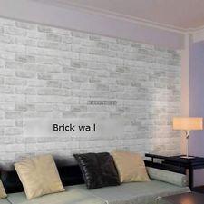 10M Roll Natural Embossed Textured 3D Brick Wall Sticker Wallpaper Home Decor