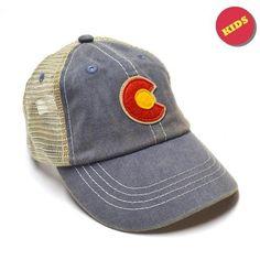 KID'S VINTAGE DENIM C TRUCKER HAT