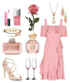 """""""Summer Wedding - """"Love Relentlessly"""""""" by theladysmaid ❤ liked on Polyvore featuring Alexander McQueen, Avon, Old Navy, Steve Madden, Christian Dior, MAC Cosmetics, Royal Albert, LE VIAN, Tory Burch and Jimmy Choo"""