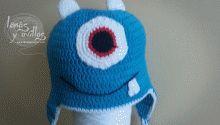 tutorial gorro monstruo orejeras gratis crochet