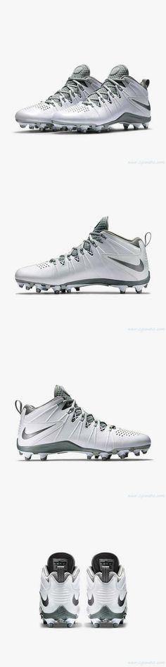 99cfd967aa207 Footwear 159154  New Men S Nike Huarache 4 Lx Lacrosse Cleats ¾ White  Silver 616296