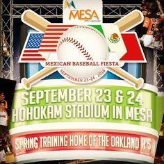 #Baseball #Fiesta  #Musica  #Food #Drinks @ Hohokam Stadium @ Mesa AZ 9/23 (7:30pm) 9/24 (7pm)