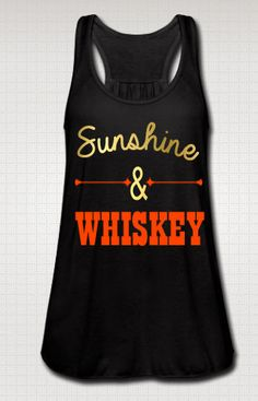 You've got the attitude, now get the shirt! Pick up this awesome Sunshine And Whiskey shirt today.  It's perfect for any country girl you know!  You get to choose the font color for this shirt. Choose