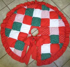 Patchwork Quilted Tree Skirt by lishyloo on Etsy, $20.00