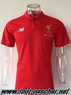 Polo Foot FC Liverpool Rouge 2017 2018 Moins Cher