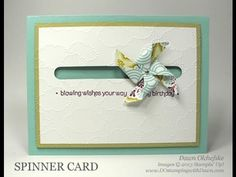 Put a little motion in your cards with this fun Pinwheel Spinner Card Tutorial.  Just need a Word Window Punch and 2 pennies!  FULL SUPPLY LIST:  http://dostamping.typepad.com/dostamping_with_dawn/2013/04/video-tutorial-stampinup-pinwheel-spinner-card.htm