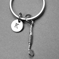 Dentist mirror keychain dentist mirror by chrysdesignsjewelry