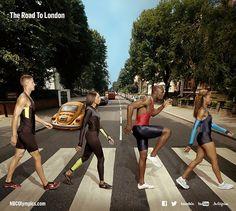 U.S. Olympic Hopefuls Pay Tribute to the Beatles' 'Abbey Road'Trey Hardee, Allyson Felix, LaShawn Merritt, and Sanya Richard-Ross cross everyone's favorite street