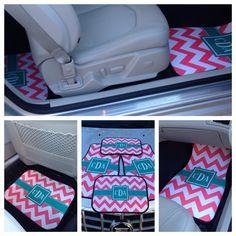 So cute! I'm definitely getting these. Personalized/Monogram Car Mats!