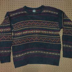 726483746 Vintage Sweater desert pattern comfy UNISEX size L large  fashion  clothing   shoes