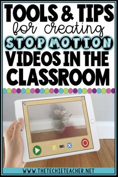Make student thinking visible with stop motion animations! This post contains tools and tips for creating stop motion videos in the elementary classrooms. FREE apps and web tools that can be used on iPads, Chromebooks, laptops/computers are mentioned! Technology Lessons, Technology Tools, Educational Technology, Teaching Technology, Middle School Classroom, Flipped Classroom, Classroom Tools, Classroom Setup, Classroom Resources