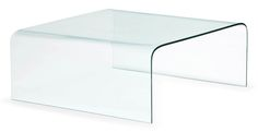 Mary Tempered Glass Coffee Table - Clear Glass | Zuri Furniture