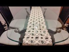 Camino de mesa#1flores de noche buena en crochet - YouTube