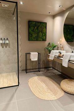 Laundry Room Bathroom, Beige Bathroom, Boho Bathroom, Bathrooms, Modern Bathroom Design, Bathroom Interior Design, Architect Student, Aesthetic Room Decor, Decoration Design