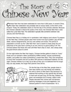 The Story of Chinese New Year Chinese New Year Crafts For Kids, Chinese New Year Activities, Chinese New Year Party, Chinese New Year Poster, Chinese New Year Decorations, New Years Activities, Chinese New Years, Chinese Crafts, Elderly Activities