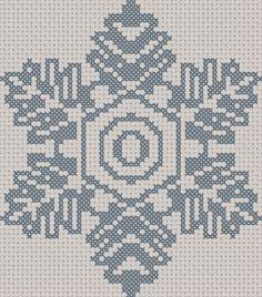 Blue snowflake free pattern