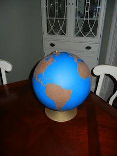 DIY Montessori sandpaper globe