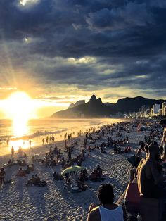 Rio de Janeiro, Brasil.  When you visit Rio, don't miss one of the best sunsets in the world in Ipanema beach with your special one.  It is one of those moments that you will likely never forget.   Be Jetting & Buy Experiences! www.YouLikeToTravel.com