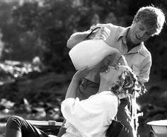 Redford and Streep in Out of Africa